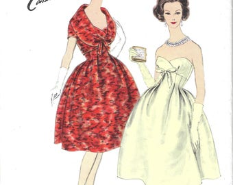 1959 Vintage VOGUE Sewing Pattern B34 DRESS & JACKET (1843) By Jeanne Lanvin-Castillo Vogue 1446