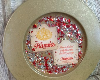 Hamm's beer plate/tray