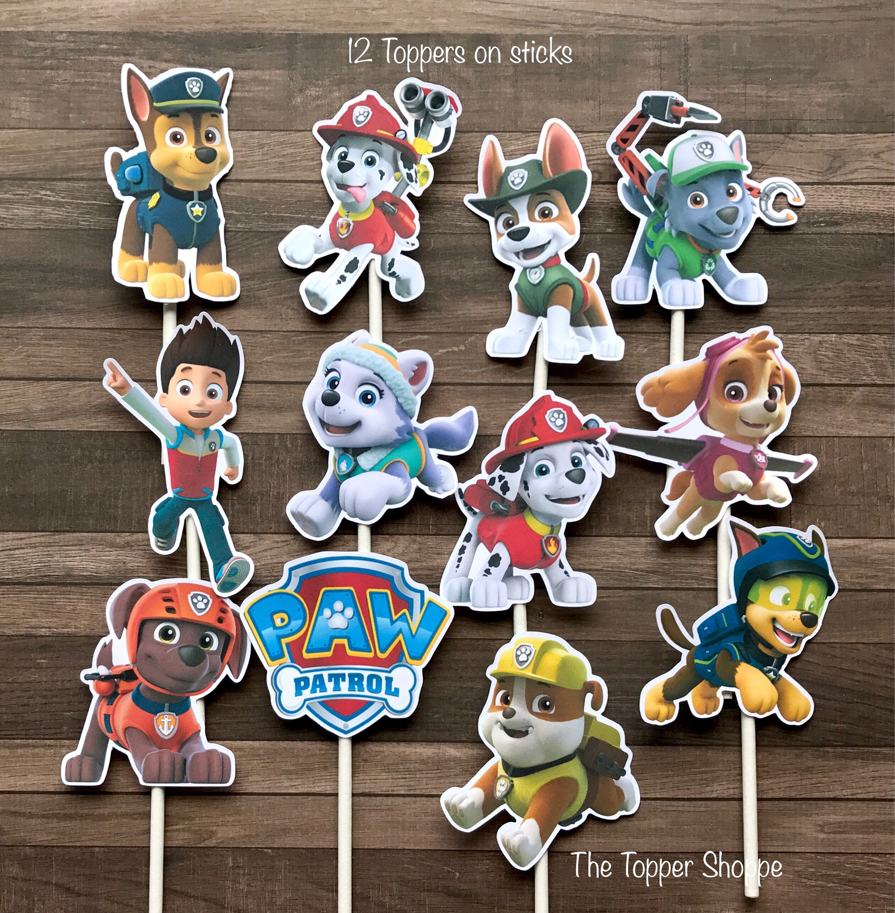 PAW PATROL Cupcake Toppers / Cake Toppers / Die Cuts