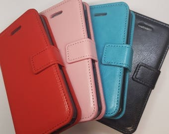 Blank iPhone 4/ iPhone 4S Wallet Phone Case with Strap for DIY project. Plain Mobile Phone Case for Decoration.