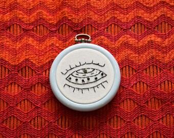 UFO - Alien Spaceship Embroidery Hoop