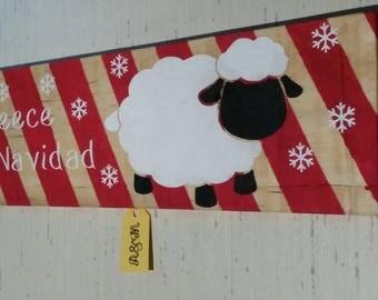 Fleece Navidad - Sheep Christmas Sign