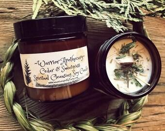 Cedar & Sweetgrass Soy Candle