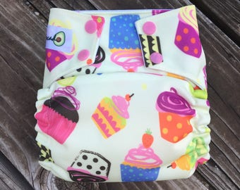 One Size OMMO Cloth Diaper Cupcakes