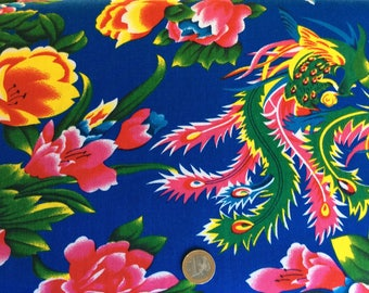 Light cotton twill with dragon print