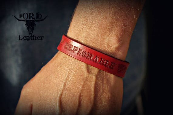 Leather Bracelet, Deplorable Bracelet