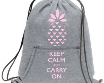 "Drawstring bag ""keep calm and carry on"