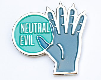 "Neutral Evil RPG Alignment 1.25"" Enamel Pin"