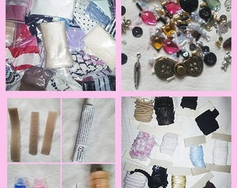 Fashion doll clothes crafting kit/Barbie clothes supply/All you need to make your own Barbie clothes collection/Girls crafting set