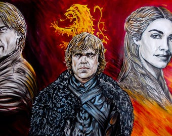 Game of Thrones Lannister Hear me roar! pencil, ink and pens on a3 paper