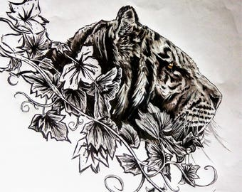 more Tiger markers drawing ink on a3 paper