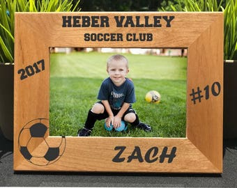 Soccer // Personalized Engraved Photo Frame // Picture Frame // Gift