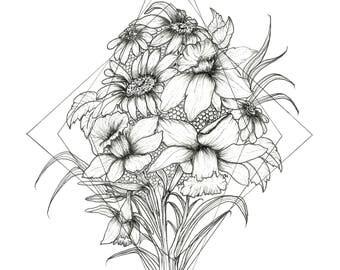 Daffodils - Minimalist Art