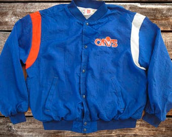 Vintage 90s Cleveland Cavaliers Blue Snap Up Bomber Jacket Size 2XL/XL For Fans of The Cavs, Vintage NBA, Vintage Cleveland, or the 1990s