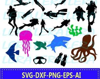 60 % OFF, Diving silhouettes svg, Diving svg, Scuba svg,  Scuba Dive Vector, Diving svg files Svg, Dxf, Png, Diving clipart