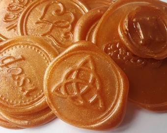"Triquetra wedding party invitation self adhesive wax seal peel sticker 3/4"" x 5 pcs"