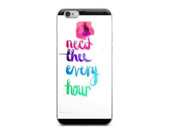 fine art watercolour phone case iphone LDS Mormon quote