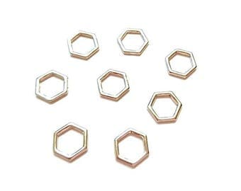 10 silver bee cell connectors