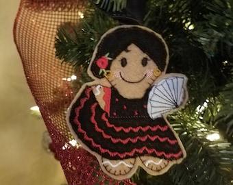 Senorita gingerbread woman