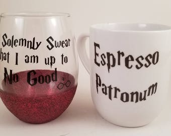 Harry Potter - Sets - Harry Potter Mug - Harry Potter Cup - Harry Potter Cup Set - Espresso Patronum - I Solemnly Swear That I am up to No