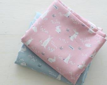 Bunny cotton, 20' cotton, mint cotton, pink cotton,bunny cotton