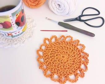 Sunny Coaster - Crochet