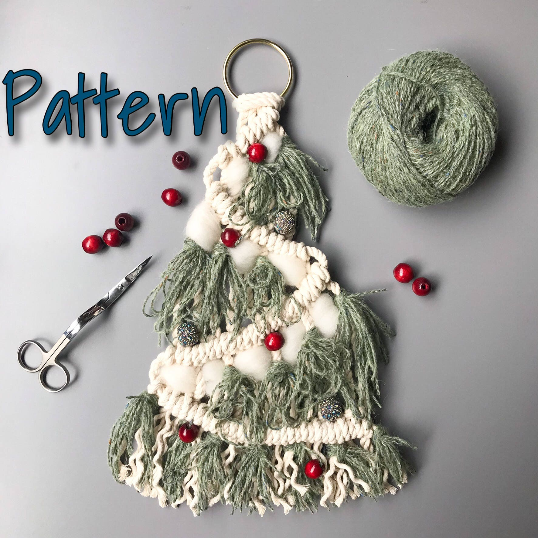 Macrame Christmas Tree Pattern Holiday Home Decor Diy