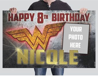 BANNER - Wonder Woman Birthday Banner