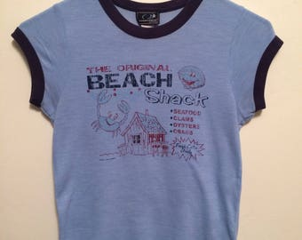VINTAGE The original BEACH shack shirt Ocean drive clothing co  size xtra small/ small