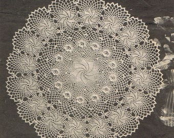 Irish Rose of Erin ~ Vintage Crochet Doily Pattern ~ Rose Flower Pinwheel ~ 3 Sizes ~ Centerpiece ~ Beautiful Heirloom Doily  in Any Color