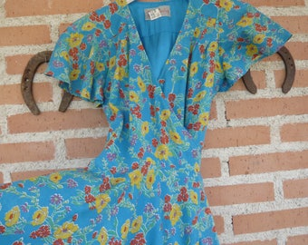 RESERVED for Mia, Vintage BETTY BARCLAY mini wrap dress