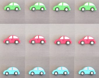 12 x Car Toppers, car cupcakes toppers, car decorations, edible fondant car toppers, car cake toppers, cake cake decorations