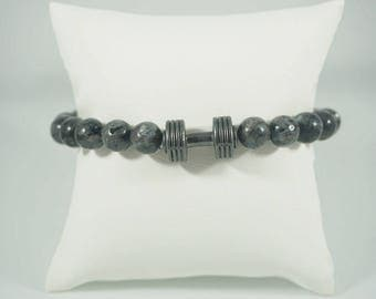 Bracelet for Men with Weight. WHITE.