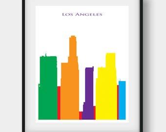 Los Angeles Print, Los Angeles Skyline, Los Angeles, Los Angeles Art, Los Angeles Poster, California Print, Los Angeles Gift, California Art