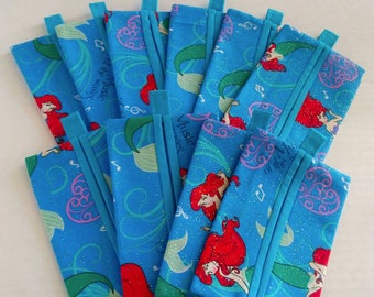 Set of 10 The little mermaid FE gifts / Disney cruise gifts / Fish extender gifts / Ariel Tissue covers / Disney dream