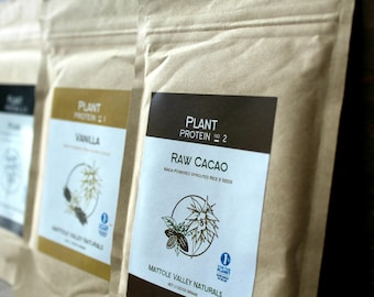 Organic Plant Protein   3 Pack, Protein Powders, Protein Powder, Plants, Plant Based, Plant Products, Natural, Cacoa, Vanilla, Work Out