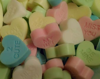 Candy hearts candy scented guest soap