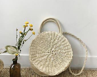 Rattan Straw Bags - Natural straw bag- Cross straw bag- minimalist bag -summer bag -rattan bag
