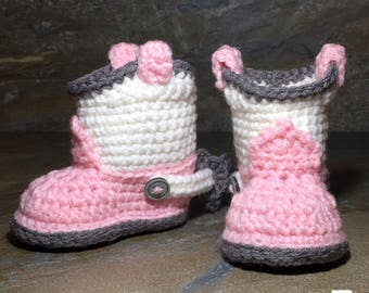 Cowboy Booties Crochet Pattern/ Cowboy Boots/ Baby Booties Crocheted/ Crochet Pattern/ Baby Cowboy Boots Pattern/ Baby Boots Crochet