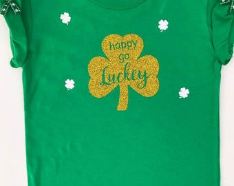 St. Patty's Day shirt, Kids St. Patrick's Day Shirt, Irish T-Shirt, St. Patrick's Day T-shirt- Girls tee shirt