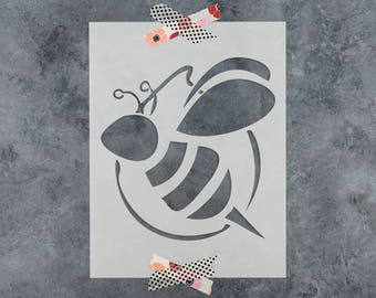 Bumble Bee Stencil - Reusable DIY Craft Stencils of a Bumble Bee - Hand Drawn Design!