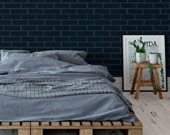 Brick Stencil - Reusable DIY Craft Stencils of a Brick Pattern