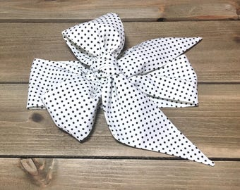 Matching Headbands- Devorppa Noir Dottie; Polka Dot Headband; Polka Dot Headwrap; Polka Dot Bow; Baby Headband; Baby Headwrap; Toddler Bows