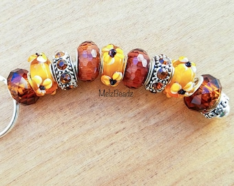 Amber bead keychain, large bead keychain, keychains for women, bead keychains,gifts for girlfriend, womens keychain, keychains, key chains