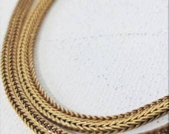 "18K Yellow Gold  Serpentine Chain Necklace 25"""