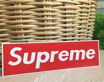 Supreme Big Red Logo Indy Graphic Art Waterproof Vinyl Decal Sticker