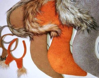 Squirrel tail / squirrel costume / Kids squirrel costume / adult squirrel costume / squirrel dress up / handmade costume / Halloween costume