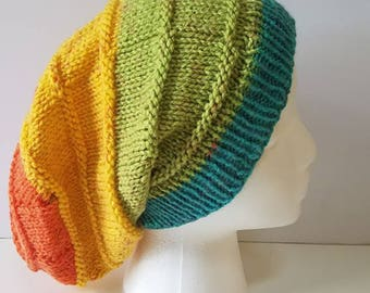 Rainbow Simple Slouchy Hat