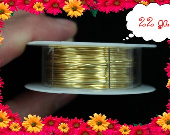 22ga 60ft Gold Wrap Wire, Gold Wrapping wire, gold Beading wire, gold Jewelry Wire,