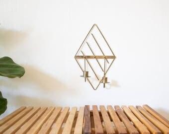 mcm geometric candle holder